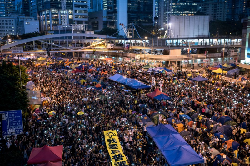 Occupy Central, Hong Kong. By Alex Ogle / Agence France-Presse