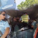 Merit, Photography - Spot News: Inside and outside the police car, by Kyle Lam of HK01