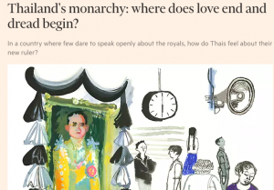 Thailand's monarchy: where does love end and dread begin? Michael Peel of Financial Times