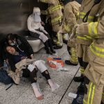 Hong Kong Subway Firebomb Attack, by By Ho Ka Tat/Apple Daily