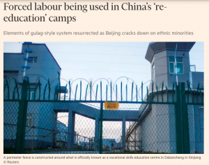 Forced Labour in Xinjiang by Emily Feng of Financial Times