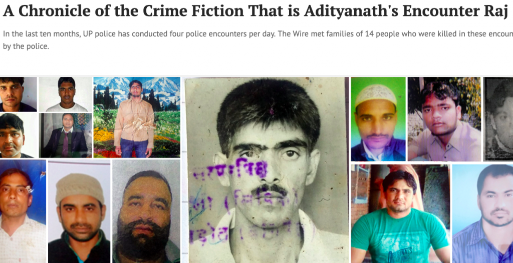 A Chronicle of the Crime Fiction that is Adityanath's Encounter Raj