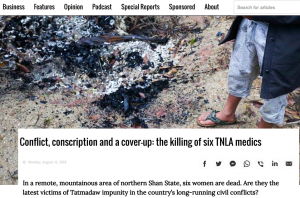 Conflict, Conscription and a Cover-up: The Killing of Six TNLA Medics by Clare Hammond, Victoria Milko and Kyaw Lin Htoon of Frontier Myanmar