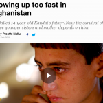 Growing Up Too Fast in Afghanistan by Andrew J Phillips and Preethi Nallu of Al Jazeera English