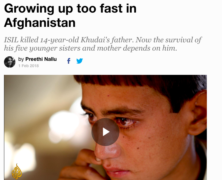 Growing Up Too Fast in Afghanistan
